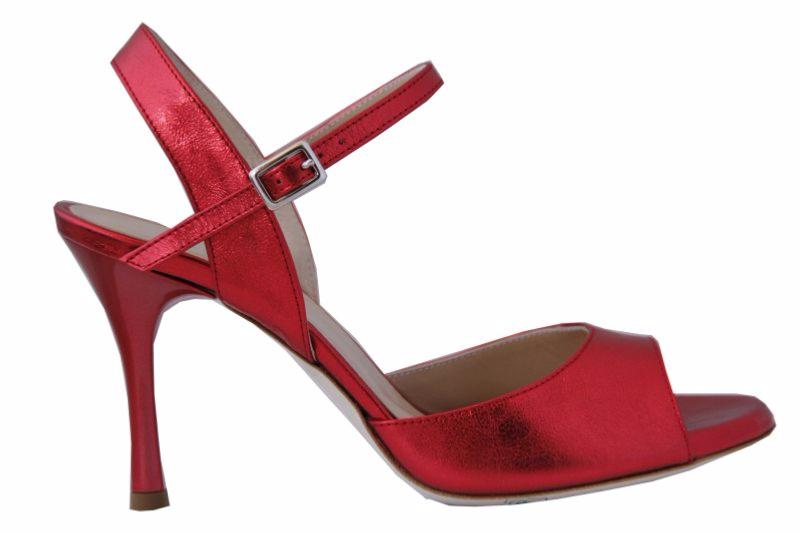 Siena C - Chaussures de Tango Argentin - Tang'Olica - Cuir Brillant Rouge