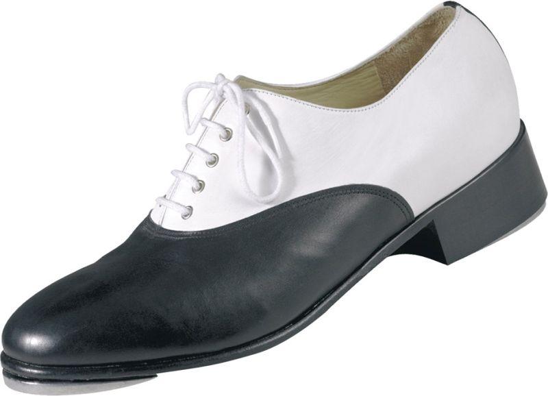chaussures de claquettes magic feet chaussures en cuir noir et blanche. Black Bedroom Furniture Sets. Home Design Ideas