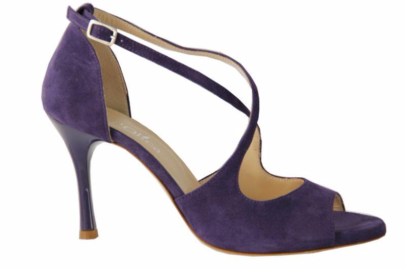 Firenze C - Chaussures de Tango argentin - Tang'Olica - Daim Violet