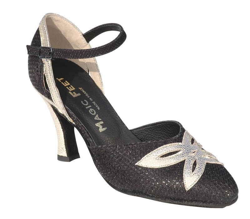 4dcbd0bdd0329e Aurélie - Chaussures Toutes danses Chaussures Danses Latines Chaussures de  Swing - Noir Cuir Do
