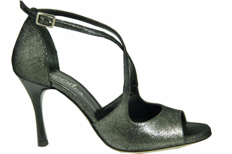 11c6ea1e0f0209 Firenze D+ - Chaussures de Tango argentin -Tang'Olica - Cuir Noir Fantaisie